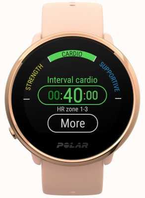 Polar El | encender | reloj de fitness rosa y rosa | pequeño | goma rosa 90079898