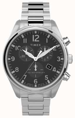 Timex El | waterbury crono tradicional 42mm | acero inoxidable TW2T70300