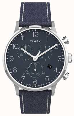 Timex El | waterbury classic chrono 40mm | cuero azul | esfera azul | TW2T71300