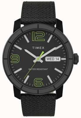 Timex El | mod de hombre 44mm | correa de nylon negro | esfera negra | TW2T72500
