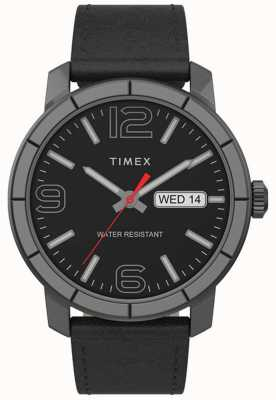 Timex El | mod de hombre 44mm | correa de cuero negro | esfera negra | TW2T72600