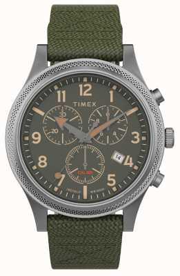 Timex El | aliado lt crono 40mm | correa de tela verde | esfera verde | TW2T75800