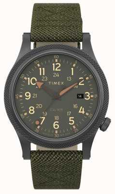 Timex El | aliado lt 40mm | caja gris | correa de tela verde | TW2T76000