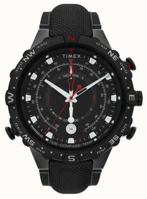 Timex El | aliado 45mm | correa de tela negra | esfera negra | TW2T76400