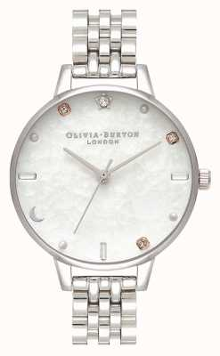 Olivia Burton El | pulsera celestial estrella y luna plata | madre perla OB16GD30