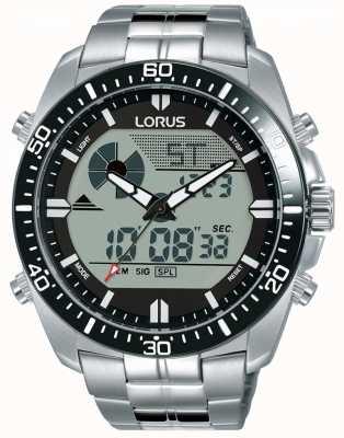 Lorus El | exhibición de dúo para hombres | pulsera de acero inoxidable | R2B03AX9