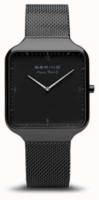 Bering El | max rené | pulsera de malla de acero negro | esfera negra | 15836-123