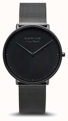 Bering El | max rené | estera de los hombres negro | pulsera de acero negro | 15738-123