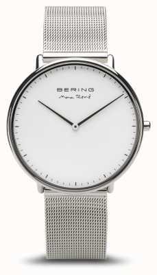 Bering El | max rené | plata pulida para hombres | pulsera de malla de plata | 15738-004