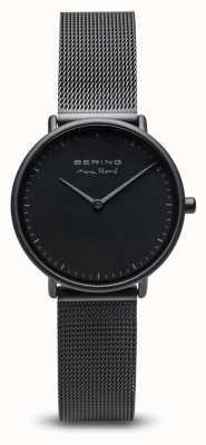 Bering El | max rené | tapete de mujer negro | pulsera de malla de acero negro | 15730-123