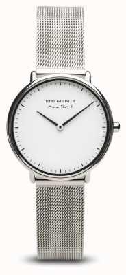Bering El | max rené | plata pulida para mujer | pulsera de malla de acero | 15730-004