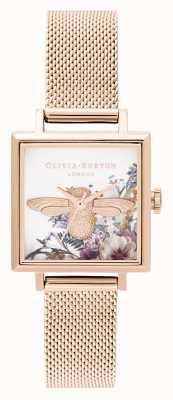 Olivia Burton | mujeres | jardín encantado | Abeja 3d | malla de oro rosa | OB16EG152
