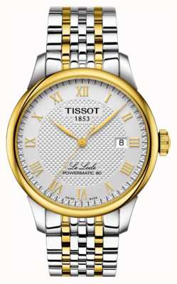 Tissot | le locle powermatic 80 | brazalete de acero inoxidable bicolor T0064072203301