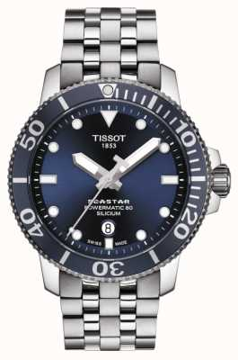 Tissot El | seastar 1000 powermatic | pulsera de acero inoxidable | T1204071104101