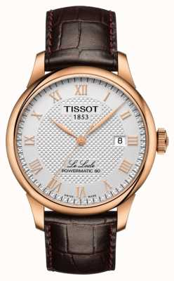 Tissot | le locle | powermatic 80 | correa de cuero marrón | T0064073603300