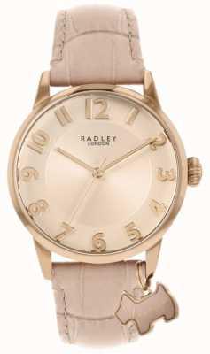 Radley Calle Liverpool | correa de cuero rosa | esfera rosa | RY2872