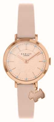 Radley Calle Selby | correa de cuero rosa | esfera de oro rosa / rosa | RY2864