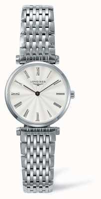 Longines Elegancia clásica correa de plata | cara blanca | L42094716