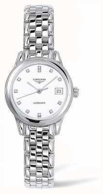 Longines Buque insignia | correa de plata | cara blanca | L42744276