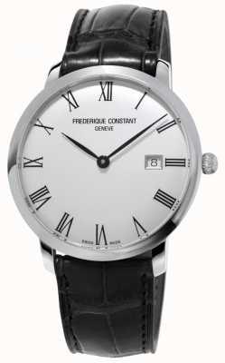 Frederique Constant Hombres | slimline | automático | cuero negro | esfera plateada FC-306MR4S6