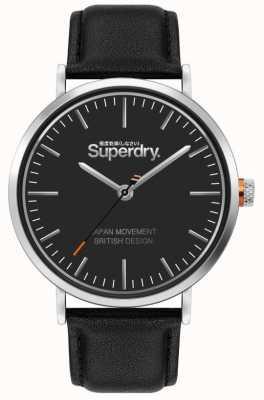 Superdry Oxford | correa de cuero negro | esfera negra | SYG287B
