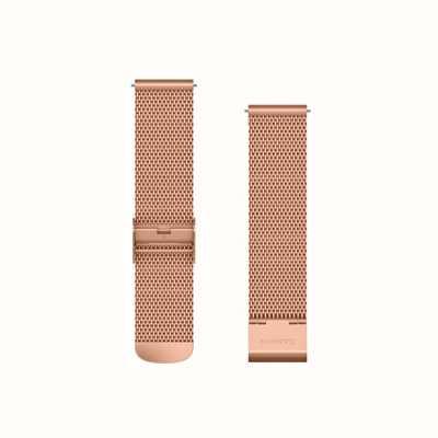 Garmin Banda de liberación rápida, banda milanesa de oro rosa con 18k rose go 010-12924-24