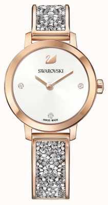 Swarovski El | roca cósmica | brazalete de oro rosa | esfera blanca | 5376092