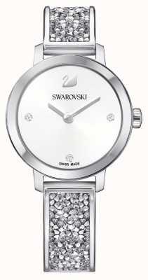 Swarovski El | roca cósmica | brazalete de acero inoxidable | esfera blanca 5376080