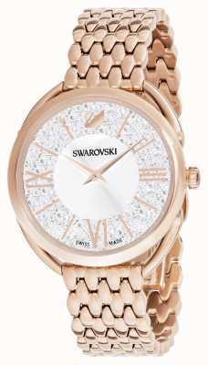 Swarovski El | glam cristalino | pulsera chapada en oro rosa | esfera plateada 5452465