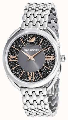 Swarovski El | glam cristalino | pulsera de acero inoxidable | esfera gris 5452468
