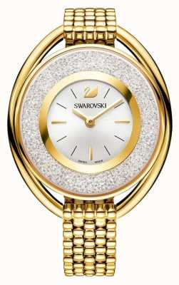 Swarovski Cristalino | ovalado | pulsera de oro pvd | esfera plateada 5200339