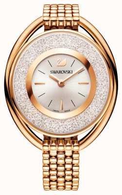 Swarovski El | cristalino | ovalado | pulsera chapada en oro rosa | esfera blanca 5200341