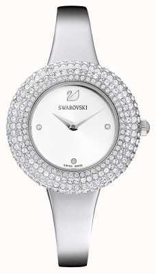 Swarovski El | rosa de cristal | pulsera de acero inoxidable | esfera blanca | 5483853