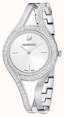 Swarovski El | eterno | pulsera de acero inoxidable | conjunto de cristal | blanco 5377545
