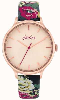 Joules '30 aniversario' | correa de cuero floral | esfera rosa | JSL028UPRG
