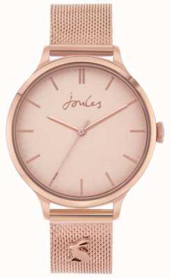 Joules Ryton | pulsera de malla de oro rosa | esfera de oro rosa | JSL026RGM