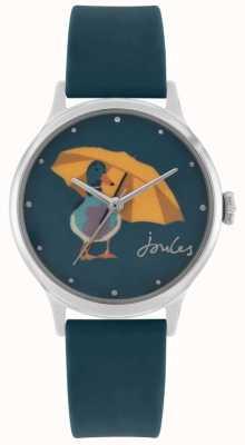 Joules Correa de silicona verde azulado para mujer | esfera con estampado de pato | JSL010AU