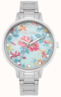 Cath Kidston Rosa Pembroke | pulsera de acero inoxidable | esfera floral azul CKL084SM