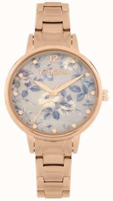 Cath Kidston El | rosa pembroke | acero inoxidable oro rosa | esfera floral | CKL084RGM