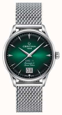 Certina Ds-1 edición especial gran fecha | powermatic 80 | malla de plata C0294261109160