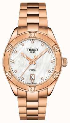Tissot | pr 100 sport chic | pulsera de oro rosa | ex modelo de pantalla T1019103311600EX-DISPLAY