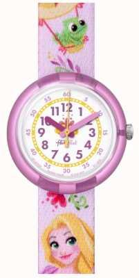 Flik Flak El | disney rapunzel | correa estampada rosa | esfera blanca | FLNP028