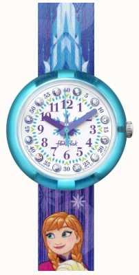 Flik Flak El | disney frozen elsa y anna | correa de tela con estampado azul | FLNP027