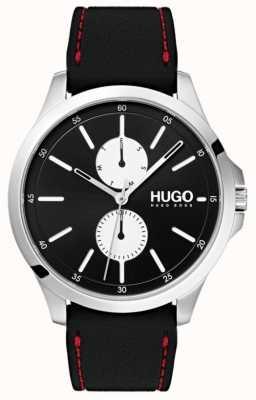 HUGO #jump | correa de caucho negro | esfera negra | 1530001