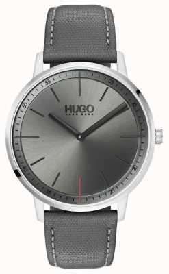 HUGO #exist | correa de cuero gris | esfera gris | 1520009