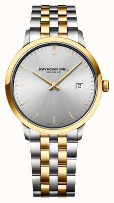 Raymond Weil | toccata de los hombres | acero inoxidable bicolor | esfera plateada | 5485-STP-65001