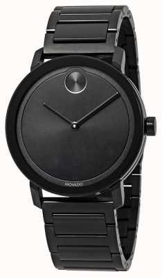 Movado El | negrita | pulsera de acero inoxidable negro | esfera negra | 3600538