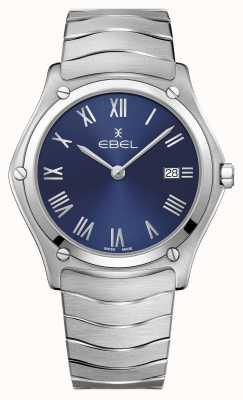 EBEL | clásico deportivo masculino | pulsera de acero inoxidable | esfera azul 1216420A
