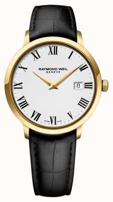 Raymond Weil Hombres | toccata | correa de cuero negro | esfera blanca 5488-PC-00300