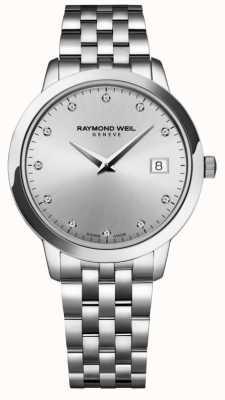 Raymond Weil Mujeres | toccata | diamante | esfera plateada 5388-ST-65081